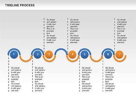 Timeline Process, Slide 3, 00630, Process Diagrams — PoweredTemplate.com
