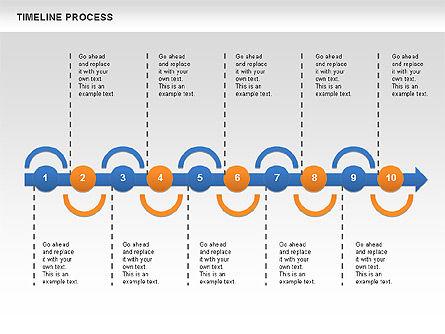 Timeline Process, Slide 4, 00630, Process Diagrams — PoweredTemplate.com