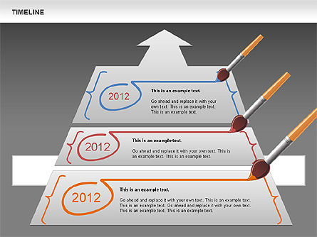 Timeline and Silhouettes Diagram, Slide 12, 00632, Timelines & Calendars — PoweredTemplate.com