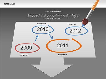 Timeline and Silhouettes Diagram, Slide 13, 00632, Timelines & Calendars — PoweredTemplate.com