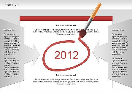 Timeline and Silhouettes Diagram, Slide 6, 00632, Timelines & Calendars — PoweredTemplate.com