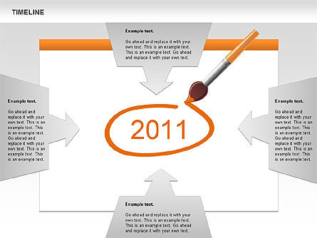 Timeline and Silhouettes Diagram, Slide 8, 00632, Timelines & Calendars — PoweredTemplate.com