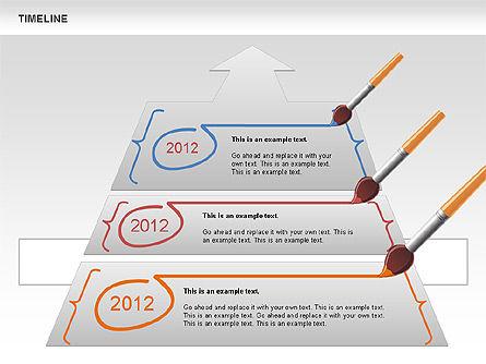Timeline and Silhouettes Diagram, Slide 9, 00632, Timelines & Calendars — PoweredTemplate.com