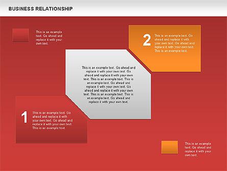 Business Relationship Textboxes, Slide 10, 00633, Business Models — PoweredTemplate.com