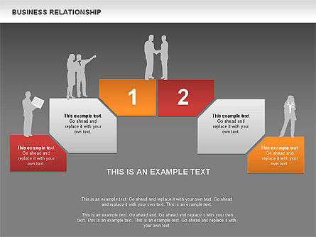 Business Relationship Textboxes, Slide 11, 00633, Business Models — PoweredTemplate.com