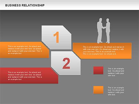 Business Relationship Textboxes, Slide 12, 00633, Business Models — PoweredTemplate.com