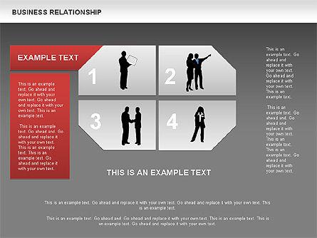 Business Relationship Textboxes, Slide 13, 00633, Business Models — PoweredTemplate.com