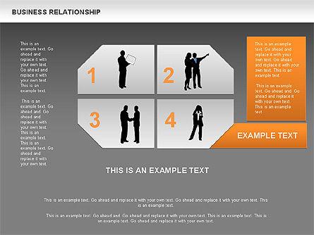 Business Relationship Textboxes, Slide 14, 00633, Business Models — PoweredTemplate.com