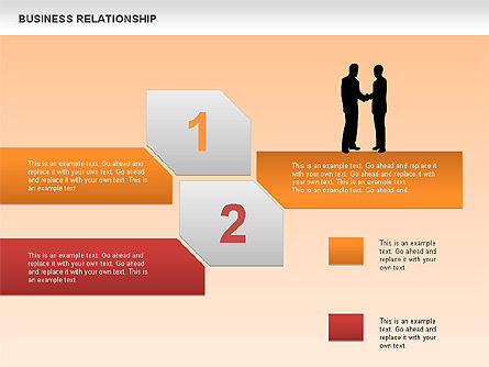 Business Relationship Textboxes, Slide 2, 00633, Business Models — PoweredTemplate.com