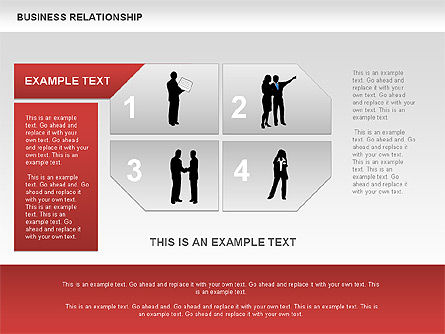 Business Relationship Textboxes, Slide 4, 00633, Business Models — PoweredTemplate.com