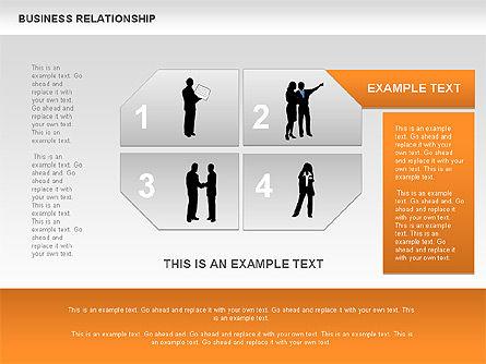 Business Relationship Textboxes, Slide 5, 00633, Business Models — PoweredTemplate.com