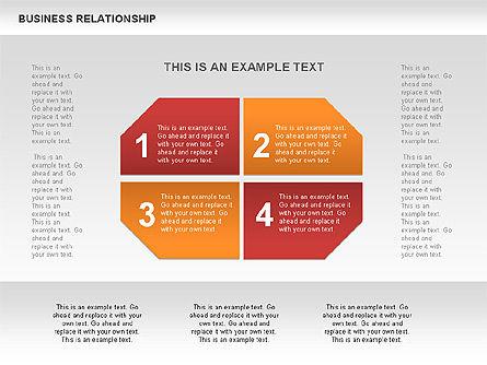 Business Relationship Textboxes, Slide 6, 00633, Business Models — PoweredTemplate.com