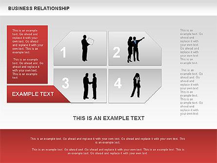 Business Relationship Textboxes, Slide 7, 00633, Business Models — PoweredTemplate.com