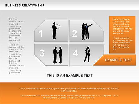 Business Relationship Textboxes, Slide 8, 00633, Business Models — PoweredTemplate.com