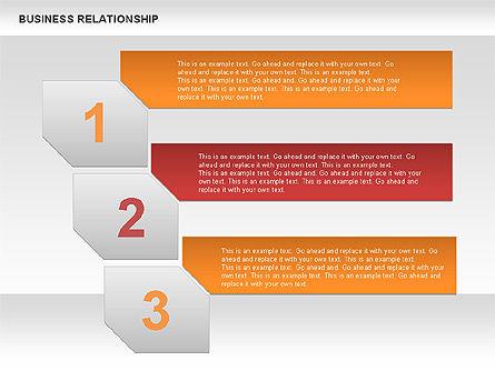 Business Relationship Textboxes, Slide 9, 00633, Business Models — PoweredTemplate.com