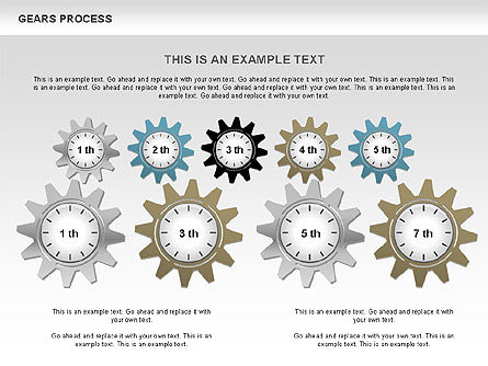 Process with Gears, Slide 11, 00634, Process Diagrams — PoweredTemplate.com