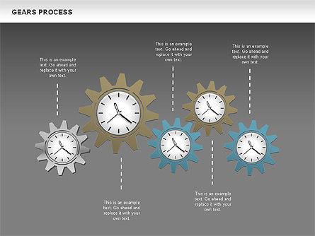 Process with Gears, Slide 12, 00634, Process Diagrams — PoweredTemplate.com