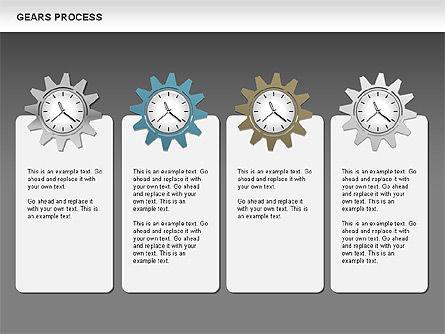 Process with Gears, Slide 13, 00634, Process Diagrams — PoweredTemplate.com