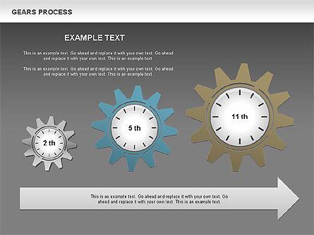 Process with Gears, Slide 14, 00634, Process Diagrams — PoweredTemplate.com
