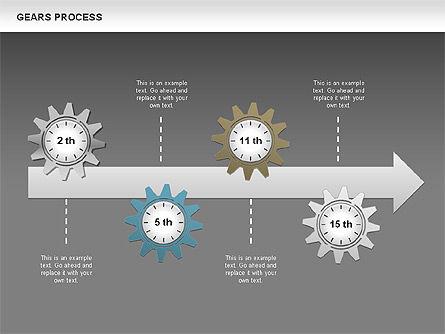 Process with Gears, Slide 15, 00634, Process Diagrams — PoweredTemplate.com