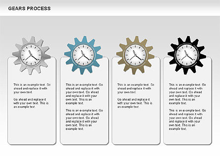 Process with Gears, Slide 2, 00634, Process Diagrams — PoweredTemplate.com