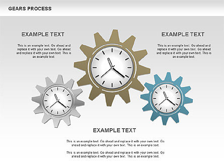 Process with Gears, Slide 3, 00634, Process Diagrams — PoweredTemplate.com