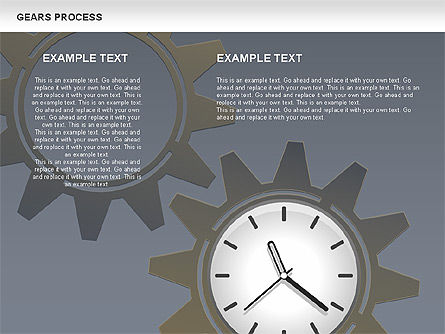 Process with Gears, Slide 4, 00634, Process Diagrams — PoweredTemplate.com