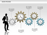 Process Diagrams: Process with Gears #00634