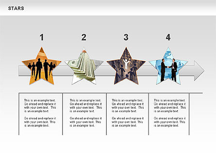 Stars Shapes and Diagrams, Slide 10, 00635, Shapes — PoweredTemplate.com