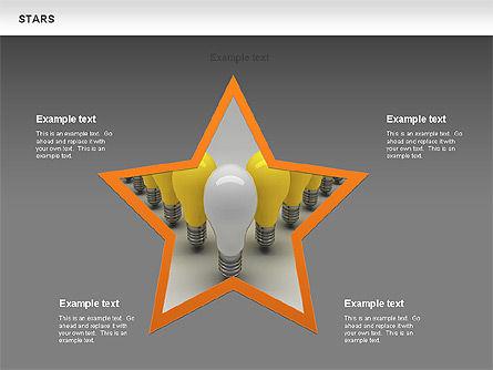 Stars Shapes and Diagrams, Slide 11, 00635, Shapes — PoweredTemplate.com