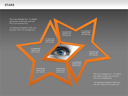 Stars Shapes and Diagrams, Slide 12, 00635, Shapes — PoweredTemplate.com