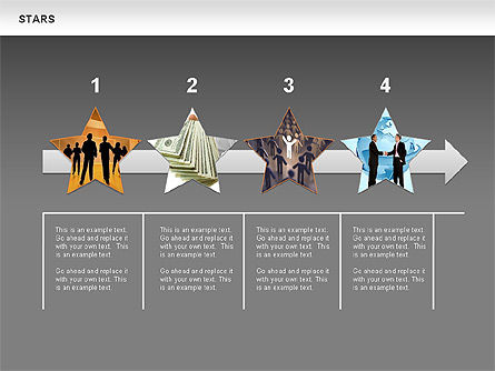 Stars Shapes and Diagrams, Slide 15, 00635, Shapes — PoweredTemplate.com
