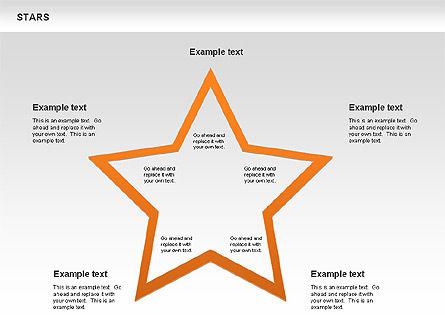Stars Shapes and Diagrams, Slide 6, 00635, Shapes — PoweredTemplate.com