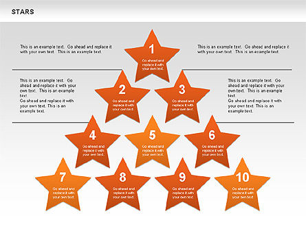 Stars Shapes and Diagrams, Slide 7, 00635, Shapes — PoweredTemplate.com
