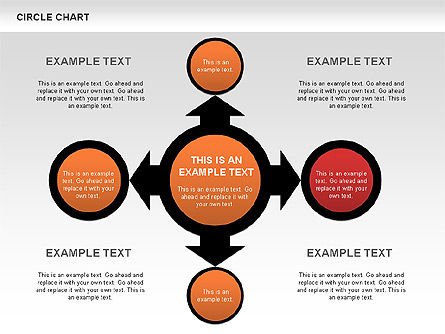 Circles and Arrows Flow Charts, Slide 4, 00636, Flow Charts — PoweredTemplate.com