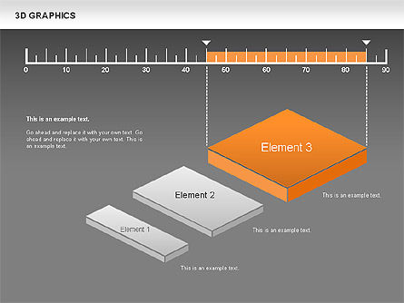 3D Graph Charts, Slide 11, 00637, Graph Charts — PoweredTemplate.com