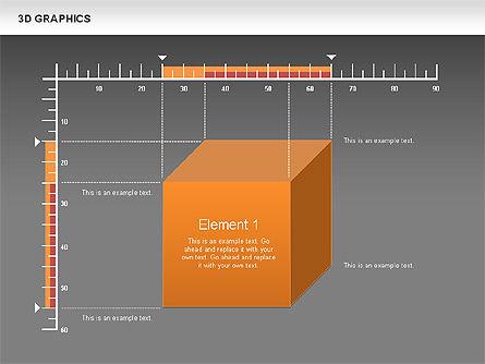 3D Graph Charts, Slide 13, 00637, Graph Charts — PoweredTemplate.com