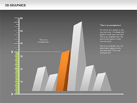 3D Graph Charts, Slide 14, 00637, Graph Charts — PoweredTemplate.com