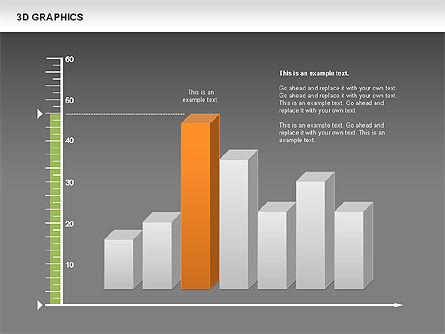 3D Graph Charts, Slide 15, 00637, Graph Charts — PoweredTemplate.com