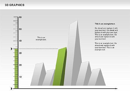 3D Graph Charts, Slide 5, 00637, Graph Charts — PoweredTemplate.com