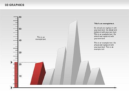 3D Graph Charts, Slide 7, 00637, Graph Charts — PoweredTemplate.com