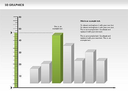 3D Graph Charts, Slide 8, 00637, Graph Charts — PoweredTemplate.com