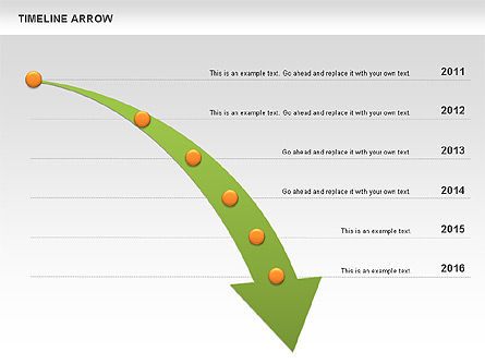 Timeline Arrow Diagram For Powerpoint Presentations Download Now