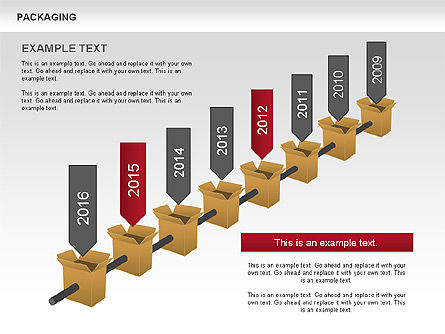 Packaging Timeline Diagram, 00643, Timelines & Calendars — PoweredTemplate.com