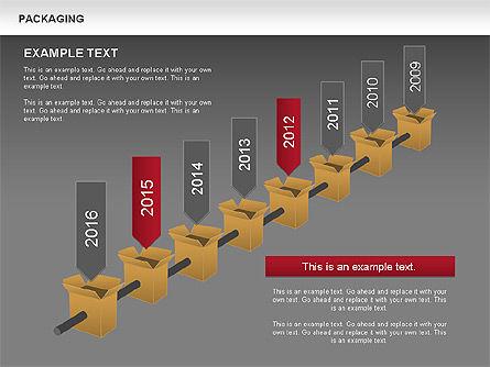 Packaging Timeline Diagram, Slide 14, 00643, Timelines & Calendars — PoweredTemplate.com