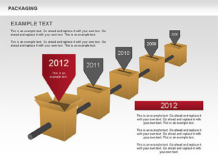 Packaging Timeline Diagram, Slide 2, 00643, Timelines & Calendars — PoweredTemplate.com
