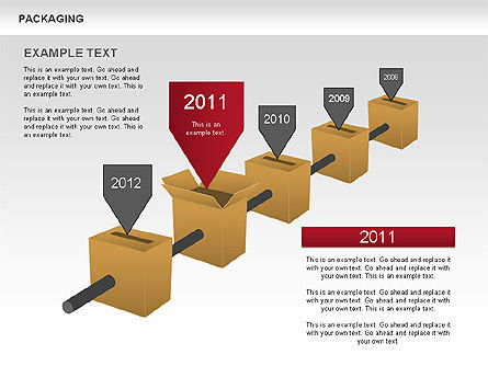 Packaging Timeline Diagram, Slide 3, 00643, Timelines & Calendars — PoweredTemplate.com