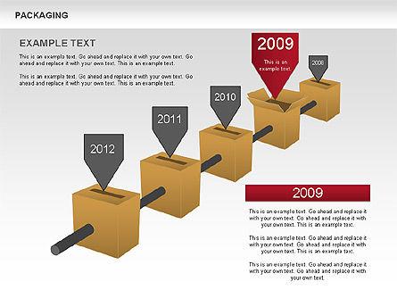 Packaging Timeline Diagram, Slide 5, 00643, Timelines & Calendars — PoweredTemplate.com