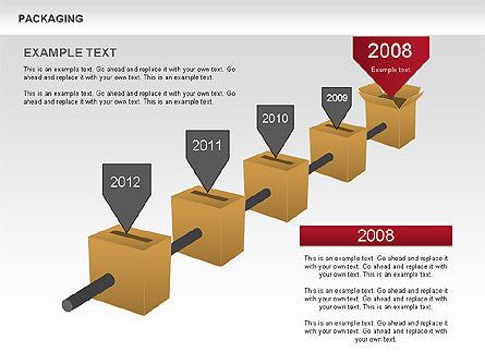 Packaging Timeline Diagram, Slide 6, 00643, Timelines & Calendars — PoweredTemplate.com
