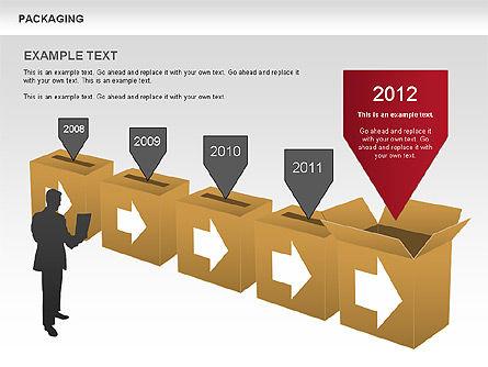 Packaging Timeline Diagram, Slide 8, 00643, Timelines & Calendars — PoweredTemplate.com